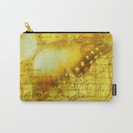 LE PAPILLON | yellow Carry-All Pouch