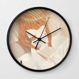 Summer Reading II Wall Clock