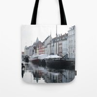 denmark Tote Bags featuring Denmark by Kayleigh Rappaport