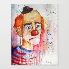 Le Clown de Joie-Ville Canvas Print