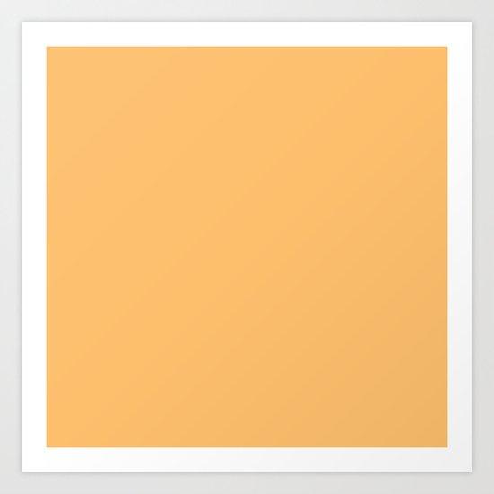 Creamy Orange Art Print