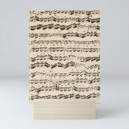 Johann Sebastian Bach (1685 – 1750) original music sheet Mini Art Print