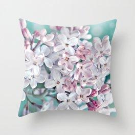 Lilac pink macro 024 Throw Pillow