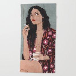 Coffe and cigarettes Beach Towel