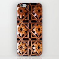 reassurance iPhone & iPod Skins featuring wood work II by Magdalena Hristova