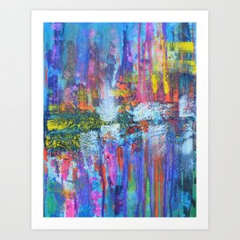 REFLECTIVE METROPOLIS - abstract expressionism prophetic art painting Art Print
