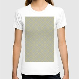 Simply Mod Diamond Mod Yellow on Retro Gray T-shirt