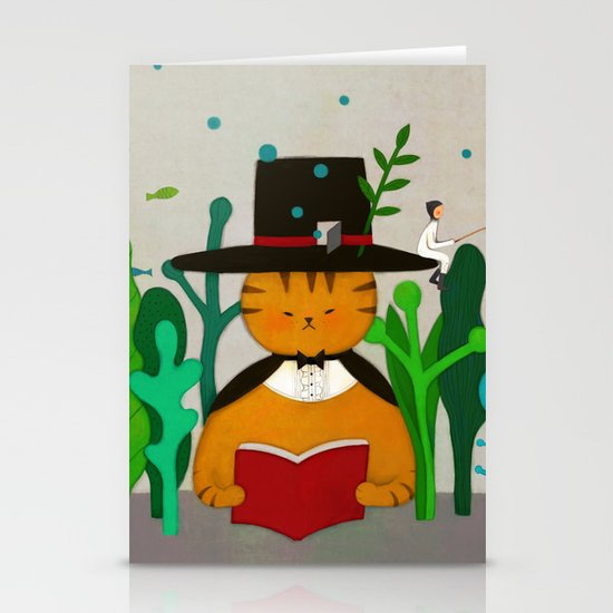 Wizard Cat Stationery Cards