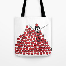 Eloise went overboard on the apple picking Tote Bag