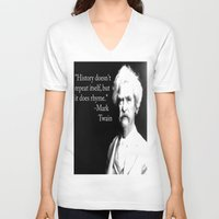 history V-neck T-shirts featuring history. by azyxz