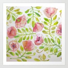Dusty Roses Art Print