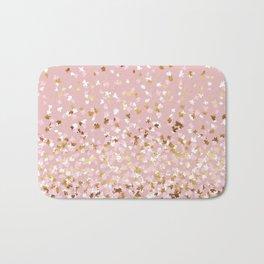 Floating Confetti - Pink Blush and Gold Bath Mat