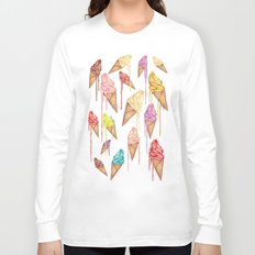 melted ice creams Long Sleeve T-shirt