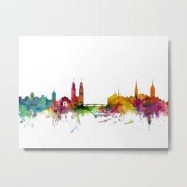 Zurich Switzerland Skyline Metal Print
