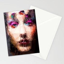 Blurready at Night - Kubistika by Boris Draschoff Stationery Cards