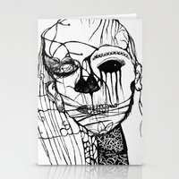 psycho Stationery Cards featuring ~psycho by alexisdarkness