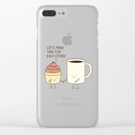 Let's make time for each other! Clear iPhone Case