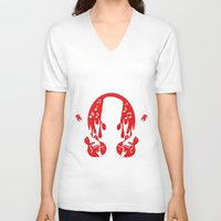 records V-neck T-shirts featuring SUN RECORDS by T-SHIRT-BAR