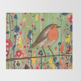 je ne suis pas qu'un oiseau revisited Throw Blanket