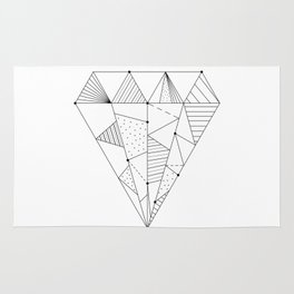 Geometric Diamond Rug