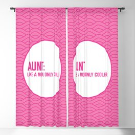 Cool Aunt Funny Quote Blackout Curtain