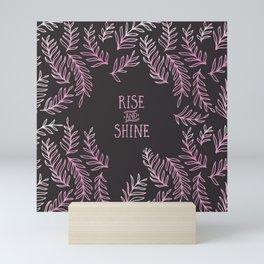 Graphic Art RISE & SHINE | pink Mini Art Print