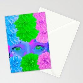 Peering Through the Dahlias Stationery Cards