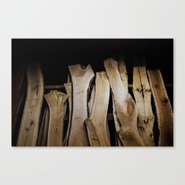 Wood Slabs Canvas Print