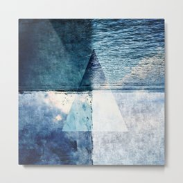 Blue Shades of a Triangle Metal Print