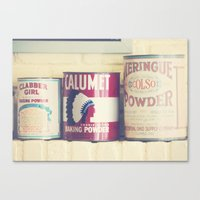 baking Canvas Prints featuring Baking Tins by maybesparrowphotography