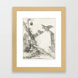 Post title for Scherzi di fantasia with owls on a stone, Giovanni Battista Tiepolo, at or before c. Framed Art Print