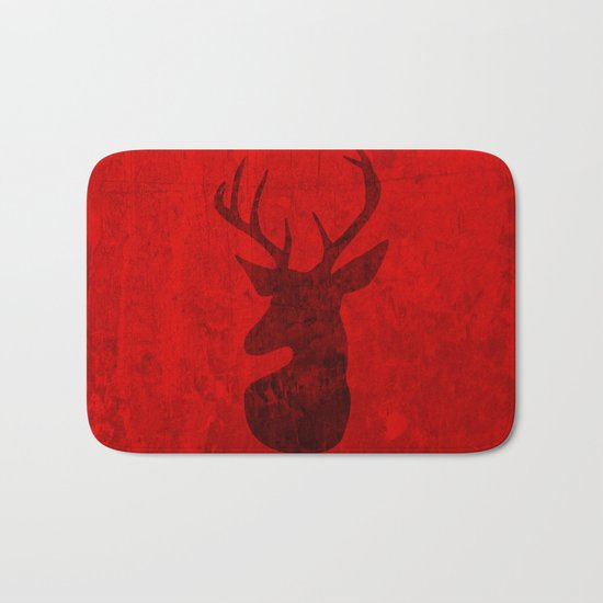 Red Deer Stag Design Bath Mat