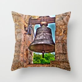 The Bell Tower Antique Stone Arches Throw Pillow