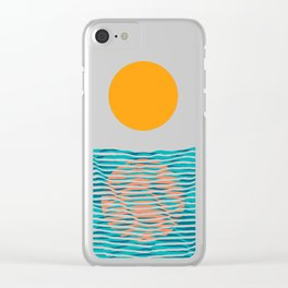 Ocean current Clear iPhone Case
