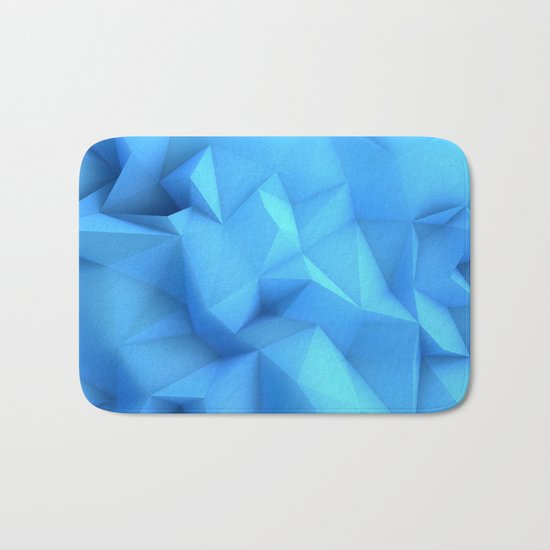 Pale Blue Geometric / Pale Blue Crystal / Geometric Pattern, Abstract Pattern, abstract ocean waves Bath Mat