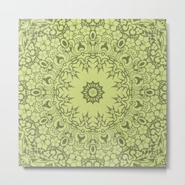 Star Of The East Mandala With Deco Color Backdrop Metal Print