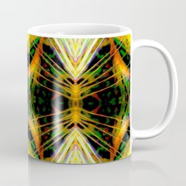 Yellow Bright Rays,Fractal Art Coffee Mug