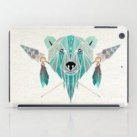 polar bear iPad Cases featuring polar bear by Manoou