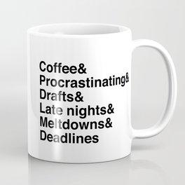 Deadlines Helvetica Coffee Mug