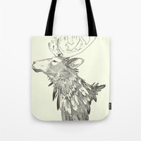 stag Tote Bags featuring Stag by Breakell