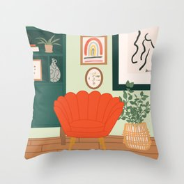 Small Spaces: Eclectic Design Throw Pillow