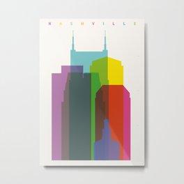 Shapes of Nashville Metal Print