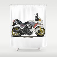 honda Shower Curtains featuring 1982 Honda CX500TC Turbo by Saddle Bums