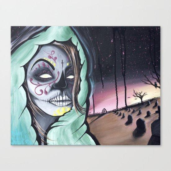 Dia De Los Muertos themed painting by Adam Valentino Canvas Print