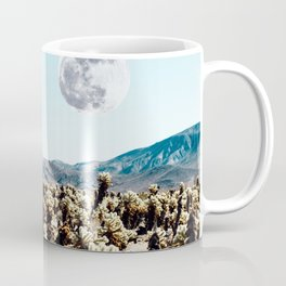 Collage, Astronaut, Desert, Moon, Creative, Nature, Modern, Trendy, Wall art Coffee Mug