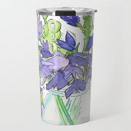 Sweet Pea Flowers Travel Mug