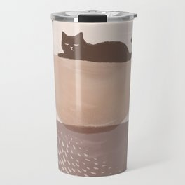 Hidden cat 7 abstract Pot balance  Travel Mug