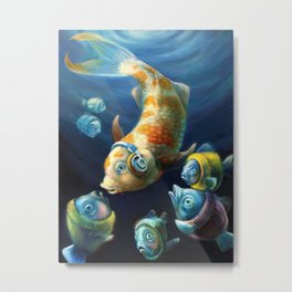 Easy Listening Streaker Fish Among the Sweater Fish Metal Print