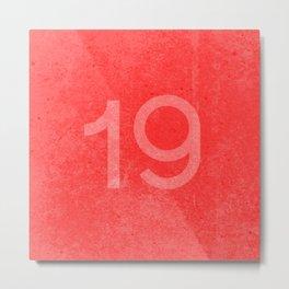 Nineteen Metal Print