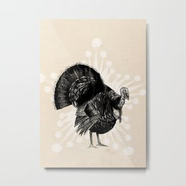 Christmas Turkey Metal Print